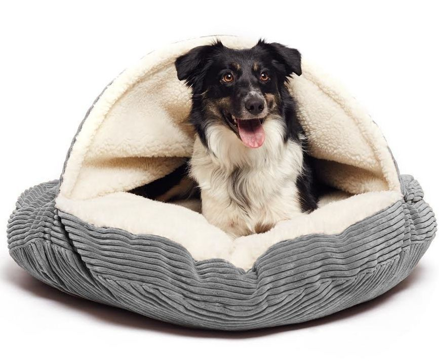 cave-hamburger-pet-bed-with-sherpa-interior-plush-fur-interior