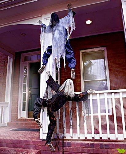 Climbing Zombies Halloween Haunted House Prop Decor
