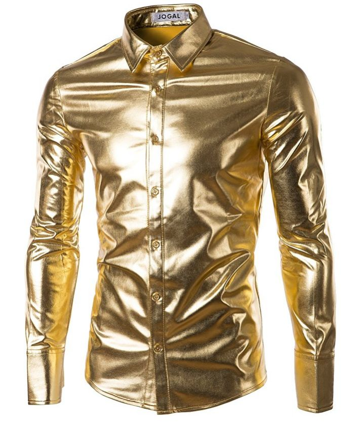 jogal-mens-trend-nightclub-styles-metallic-silver-button-down-shirts