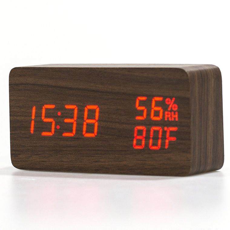 multi-function-wood-clock