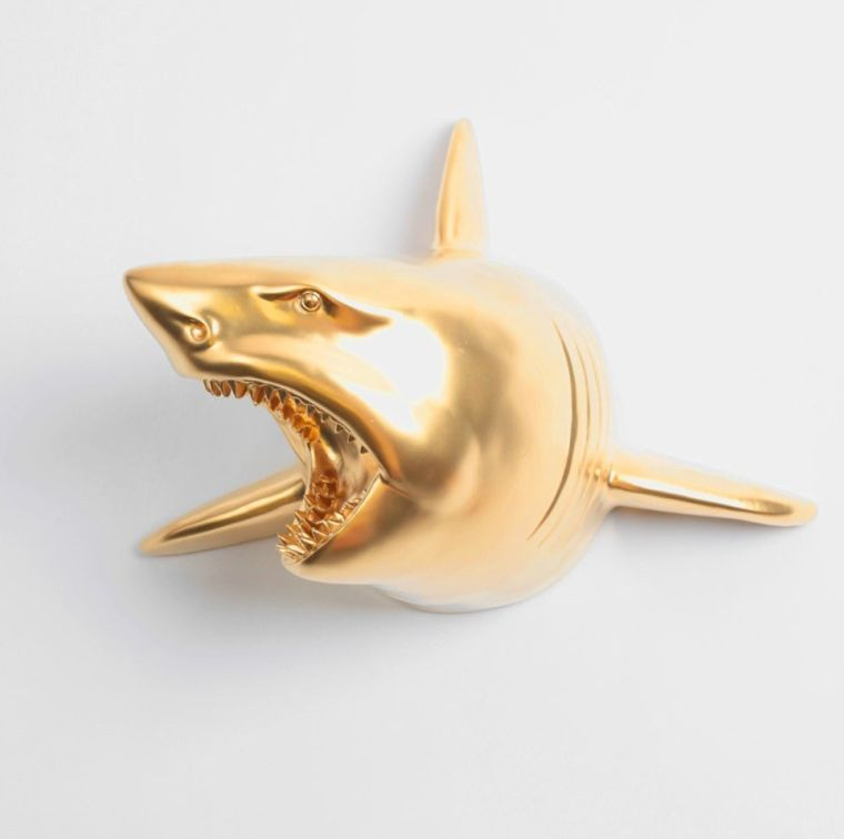 the-lewie-in-gold-shark-head-wall-mount