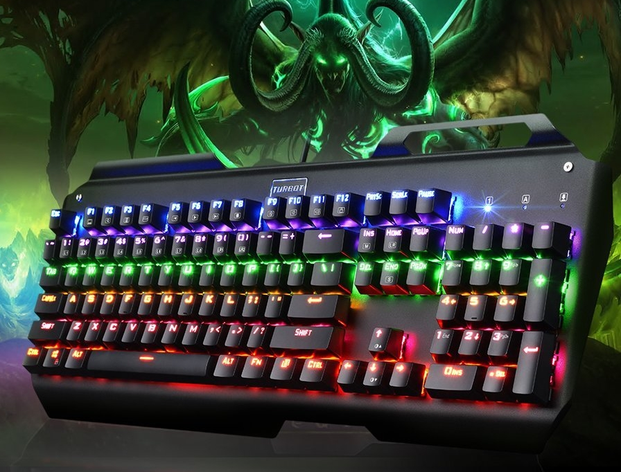 USB Wired Mechanical Gaming Keyboard with Multi-color Backlight