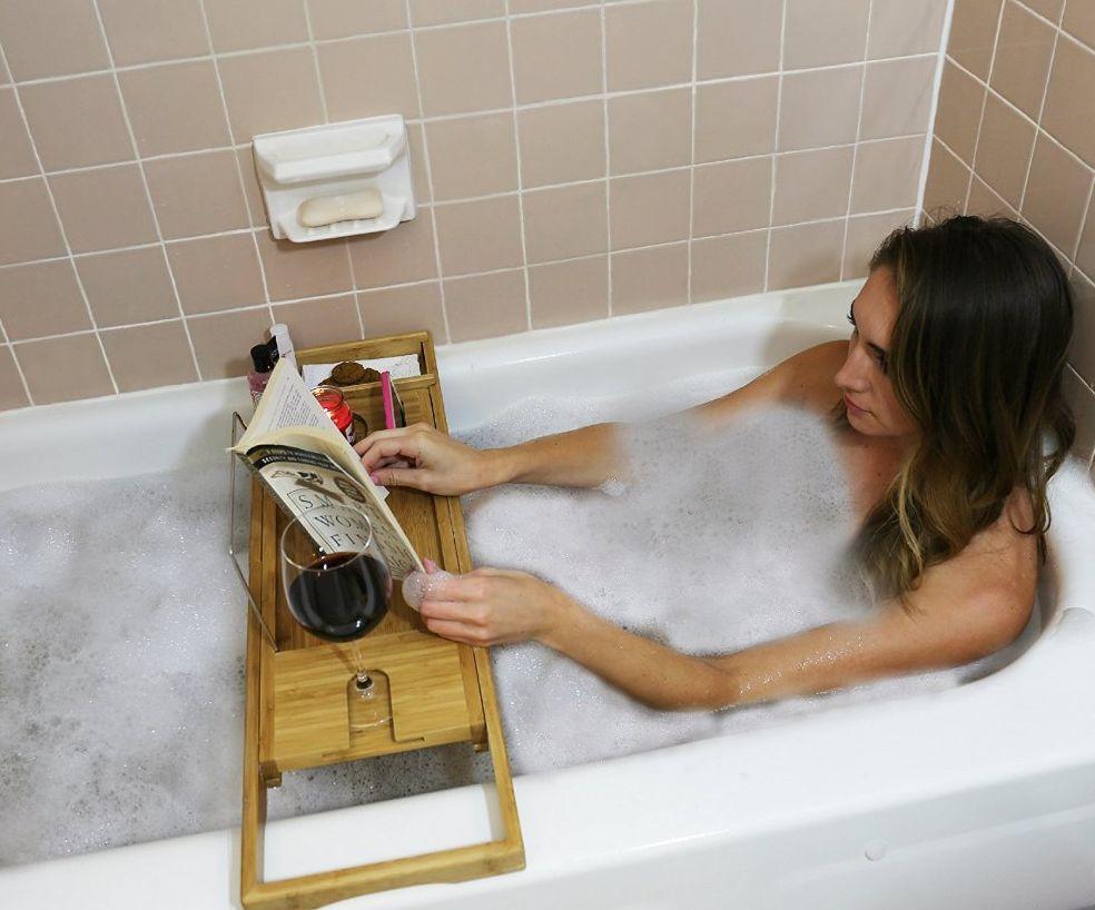 bamboo-bathtub-caddy-bath-tub-tray