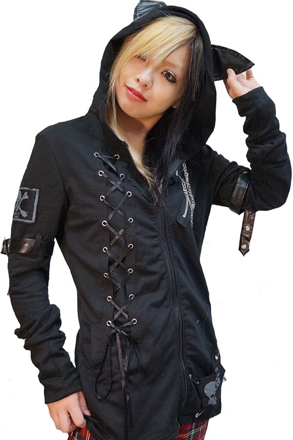 hippies-womens-punk-visual-cat-ear-tail-hoodies-parka-sweat