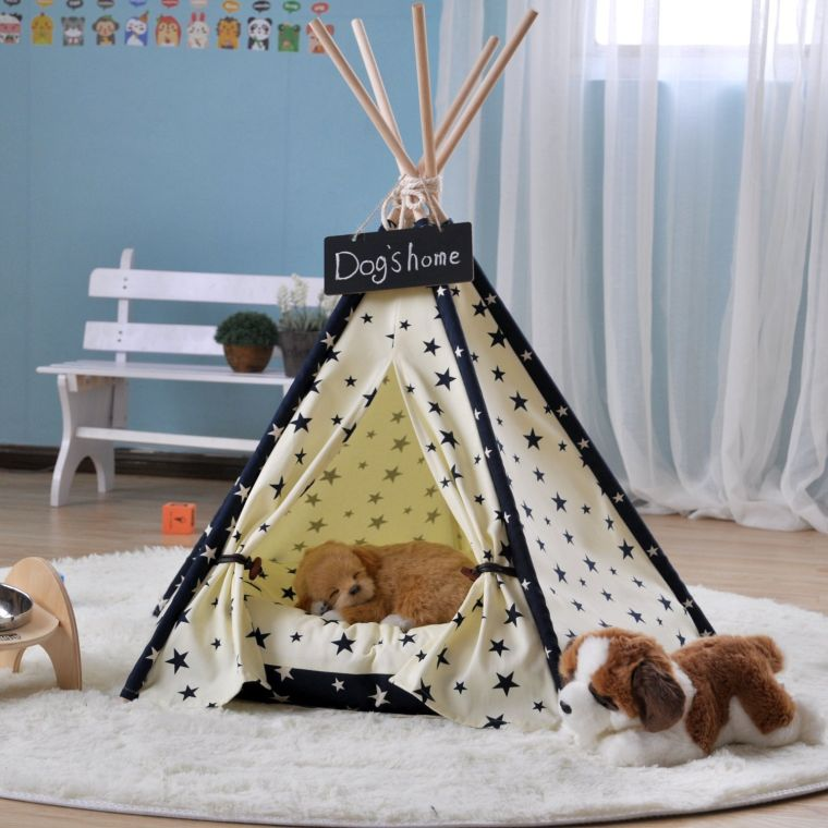 dove-pet-supplies-canvas-star-style-pet-teepee-and-kennels-dog-play-house