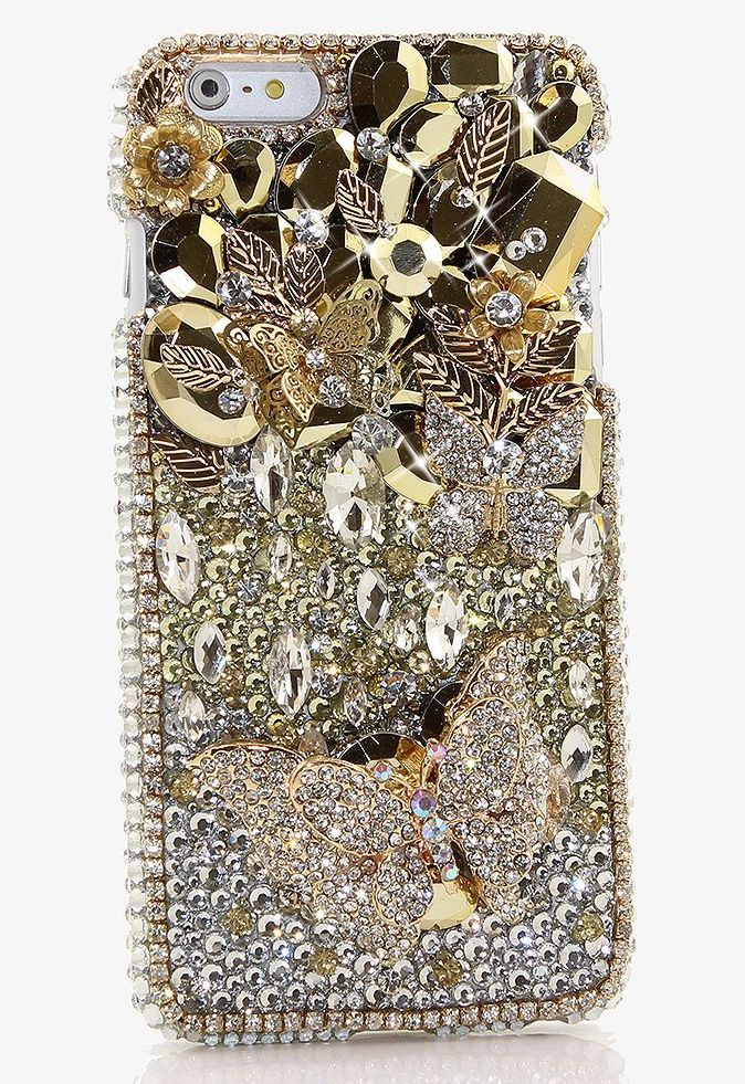 bling-genuine-crystals-golden-gaga-with-diamond-butterflies-hybrid-protective-cover-for-iphone-7