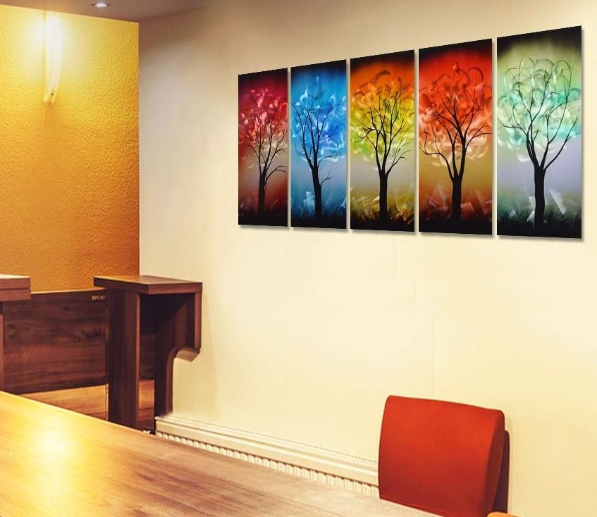 Colorful Tree Metal Wall Art Decor