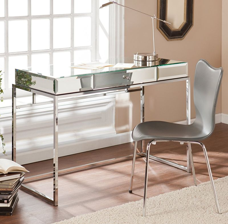 dana-mirrored-desk-with-drawer-in-chrome