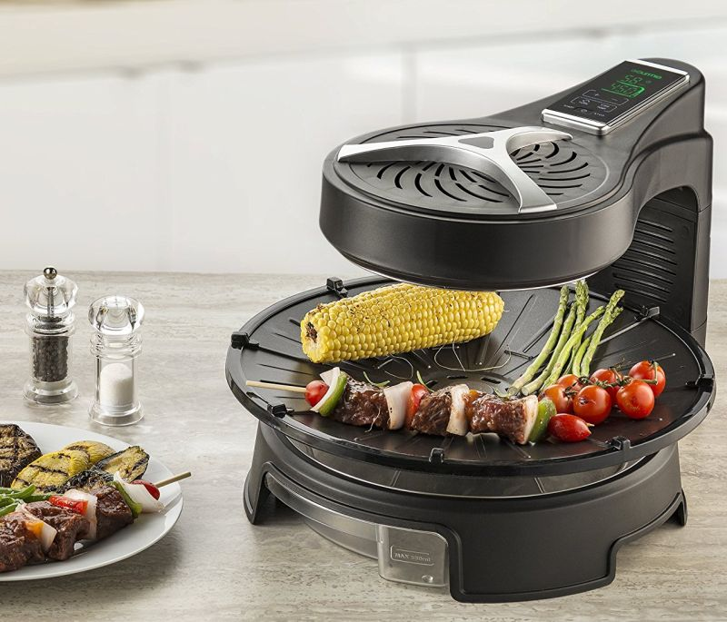 digital-halogen-powered-rotating-grill-with-lcd-touch-time-temperature-control-display