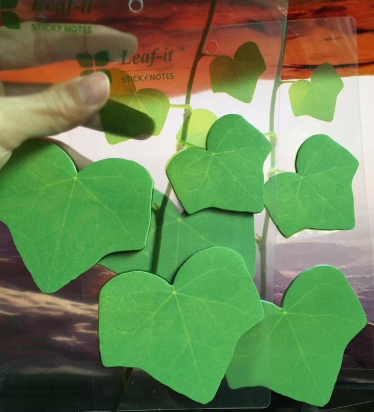leaf-shaped-sticky-note-paper-memo-pads