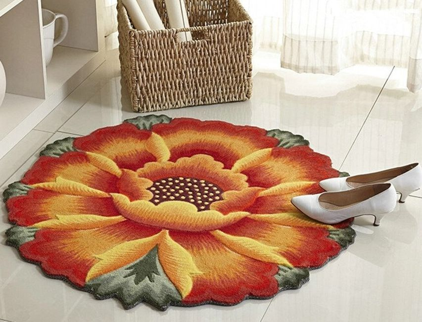 luk-oil-sunflower-round-rug