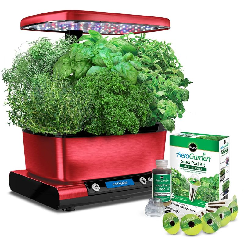 miracle-gro-aerogarden-harvest-elite-with-gourmet-herb-seed-pod-kit