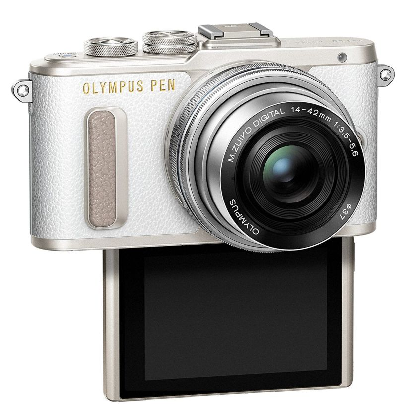olympus-pen-e-pl8-white-body-with-14-42mm-iir-silver-lens