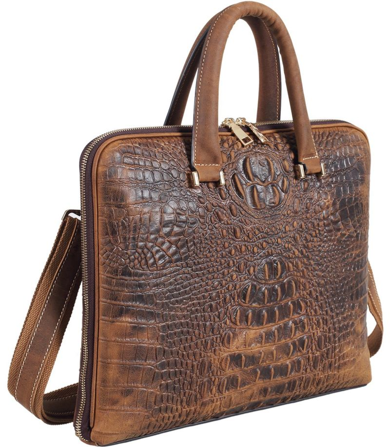 polare-luxury-alligator-crocodile-style-cowhide-leather-slim-business-case-briefcase-handbag
