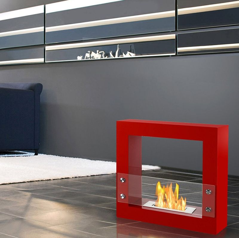 red-freestanding-ventless-ethanol-fireplace