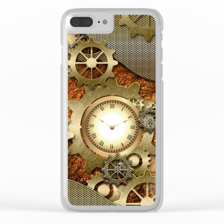 steampunk-clear-case-slim-case-iphone-7-plus