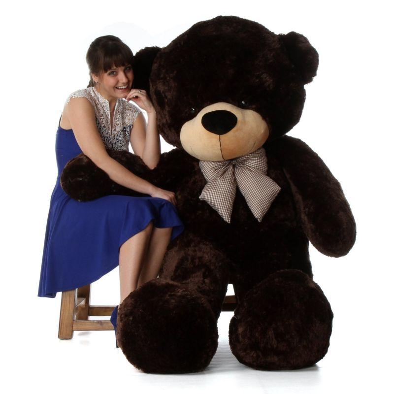 6-foot-life-size-teddy-bear-rich-chocolate-brown-cuddly-stuffed-toy-bear-brownie-cuddles