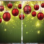 christmas-curtain-green-christmas-decorations-bedroom