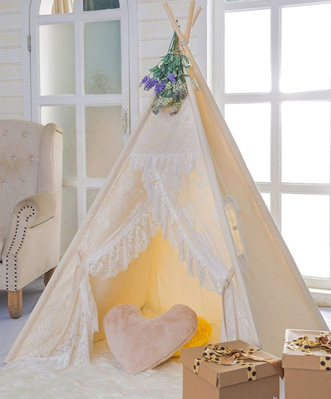 floral-classic-ivory-kids-teepee-kids-play-tent-childrens-play-house-tipi-kids-room-decor
