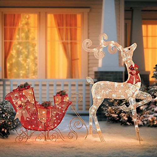 glittering-reindeer-sleigh-lighted-christmas-decor