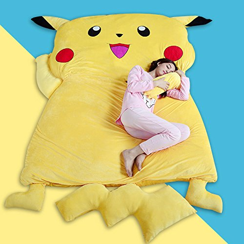 huge-giant-filled-pokemon-pikachu-bed-carpet