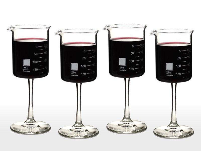 periodic-tableware-laboratory-beaker-wine-glasses