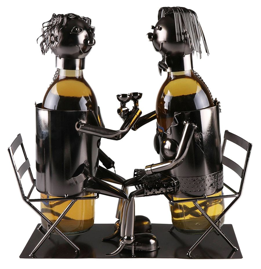 premium-metal-couple-drinking-wine-bottle-holder