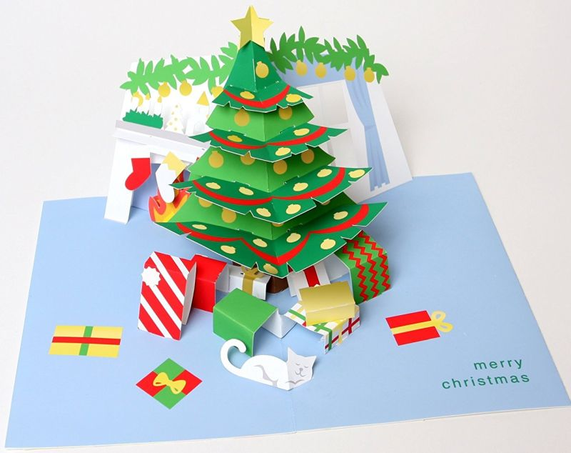 Robert Sabuda Holiday Room Boxed Pop Up Cards