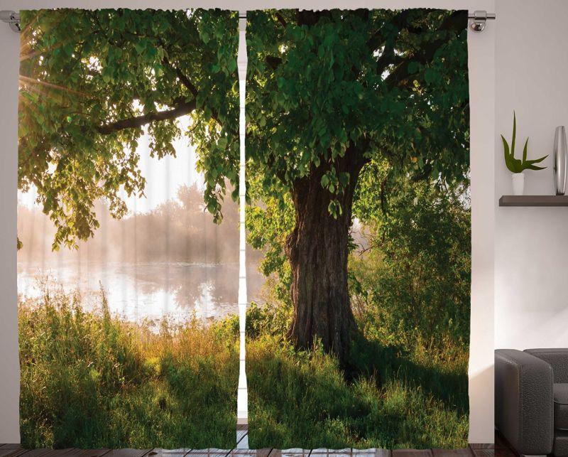 Nature Curtains Oak Tree Decor