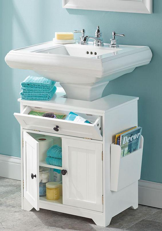 The Pedestal Sink Storage Cabinet 7 Gadgets