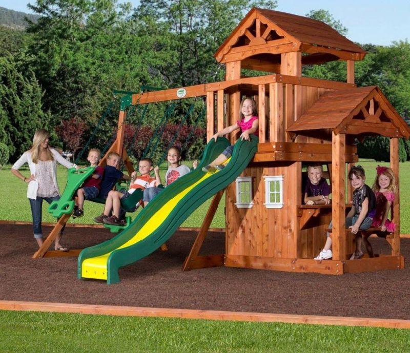 All Cedar Wood Playset Swing Set