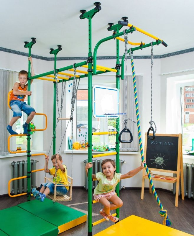 Children S Indoor Home Gym Swedish Wall 7 Gadgets