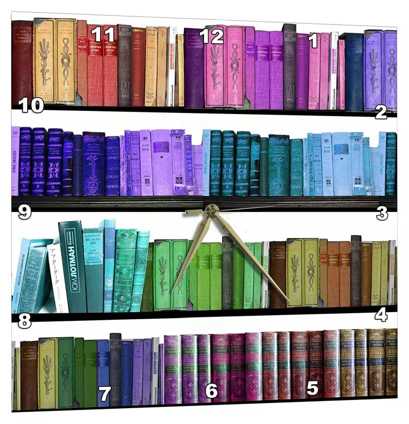 Colorful Bookshelf Books Rainbow Bookshelves