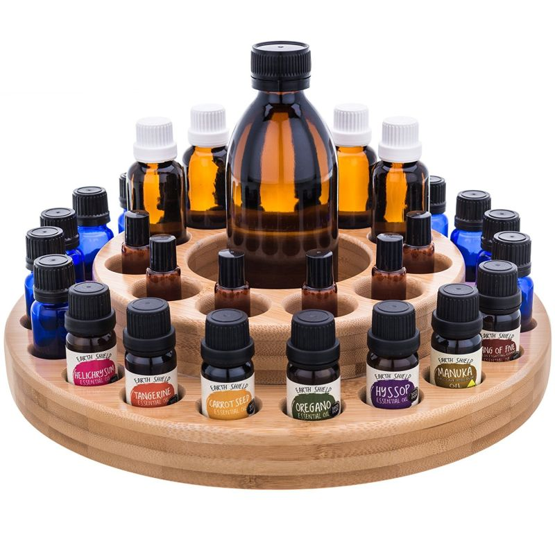 Essential Oil Wooden Storage Carousel