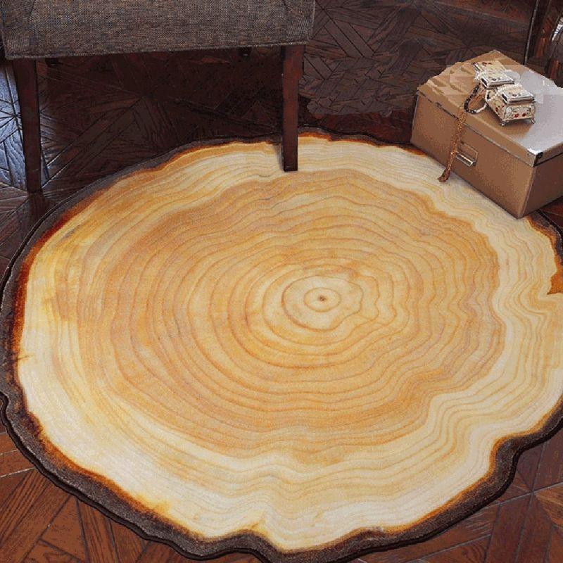 Rug Tree Ring Design Round Carpet Big Tree 7 Gadgets