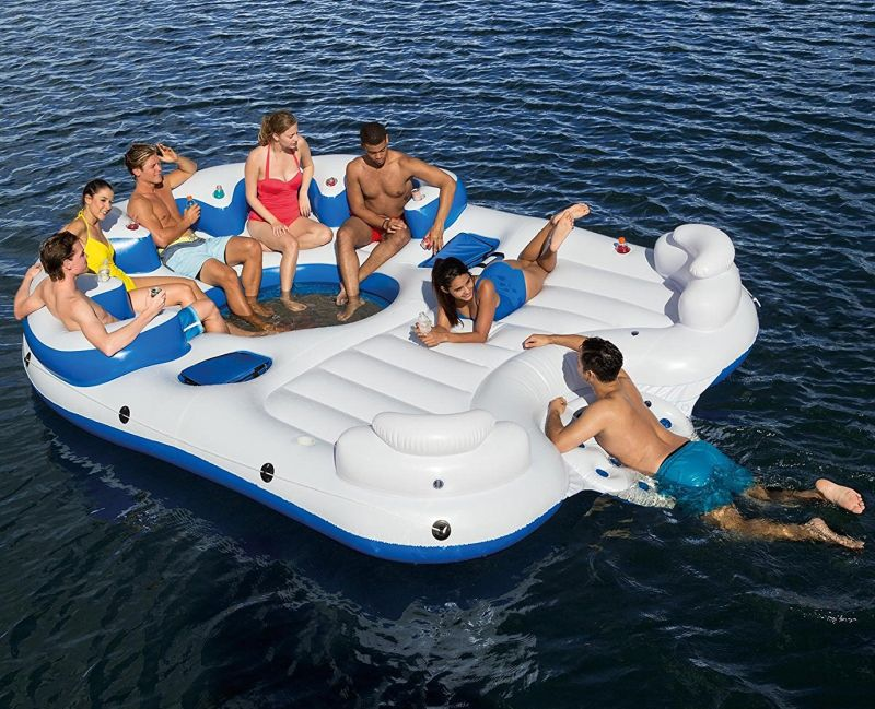 Catamaran Inflatable Floating Island Party Raft Lounge 7