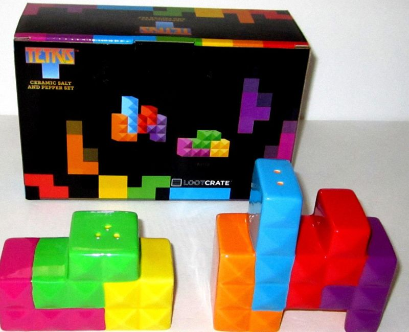 Official Tetris Ceramic Salt And Pepper Set