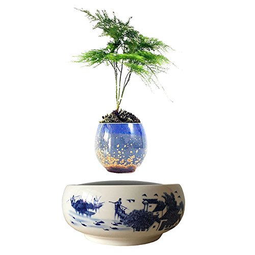Levitating floating bonsai air plant ceramic bonsai pot for Floating plant pots