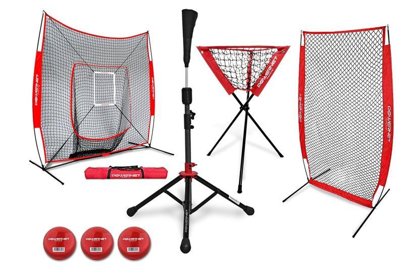 powernet dlx baseball softball net w strike zone  training