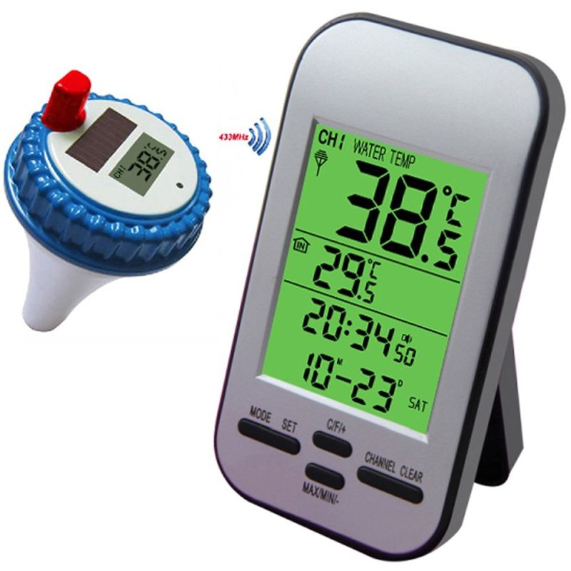 Professional Wireless Pool Thermometer Floating Solar