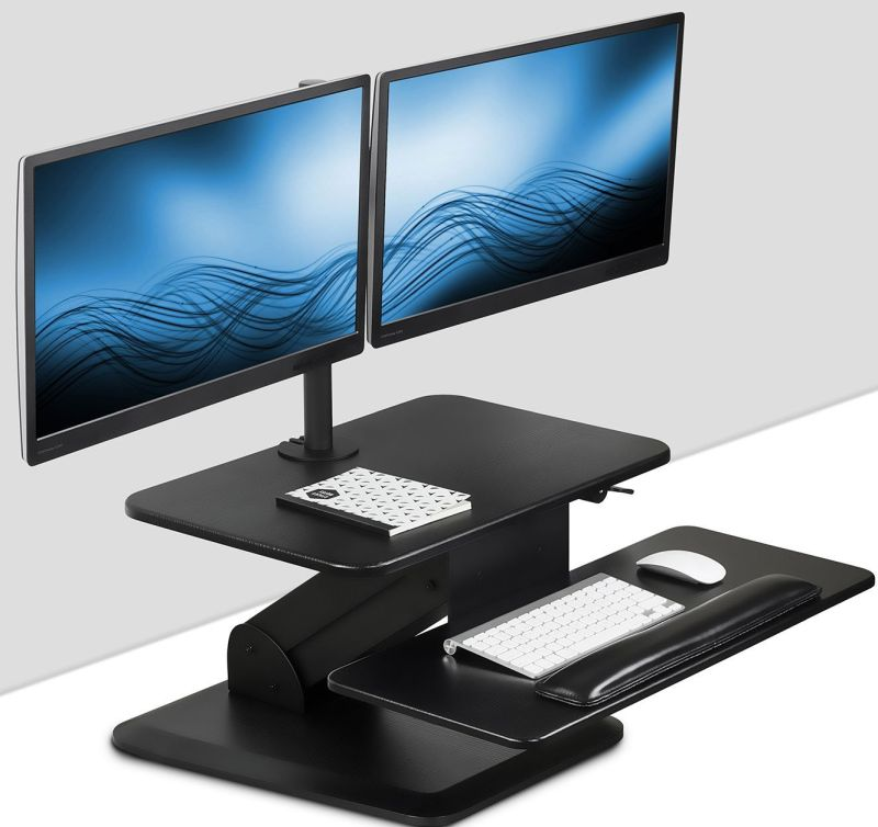Sit Stand Workstation Standing Desk Converter With Dual