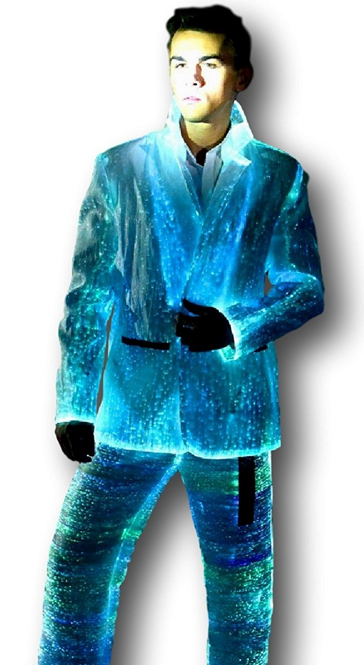 Men S Fiber Optic Light Up Suit Jacket And Pants 7 Gadgets
