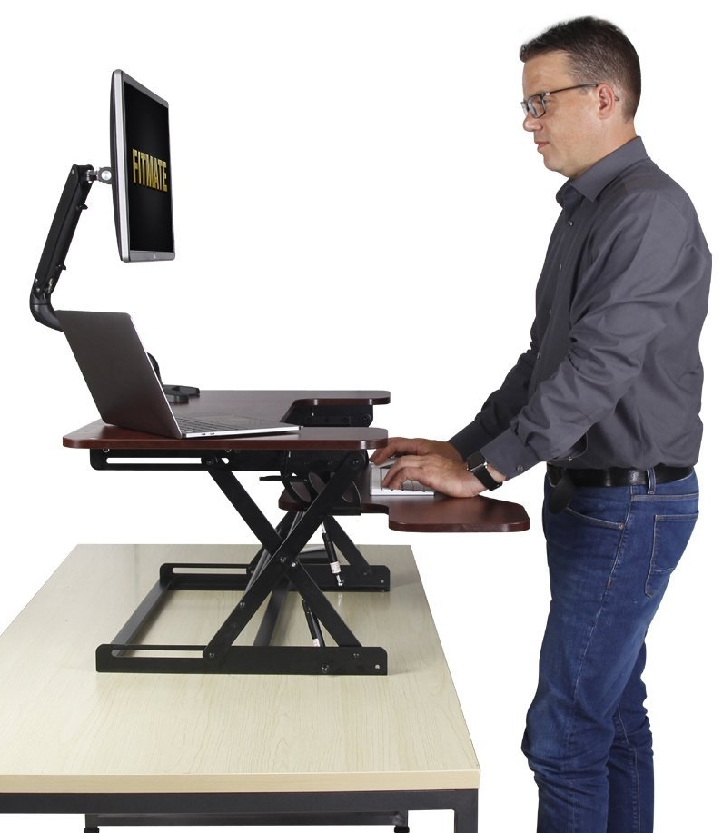 Fitmate 36 Quot Preassembled Height Adjustable Standing Desk