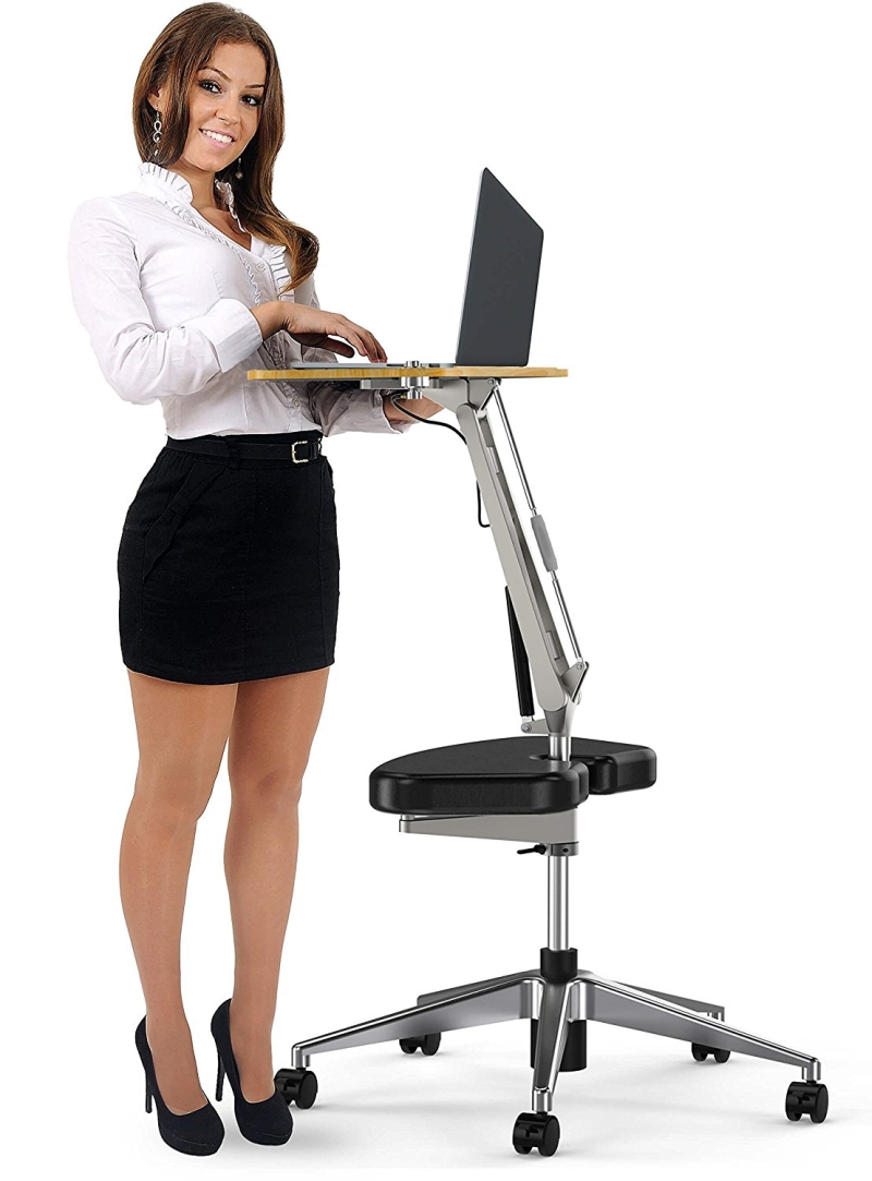 Roomyroc Standing Desk With Height Adjustable Footrest 7