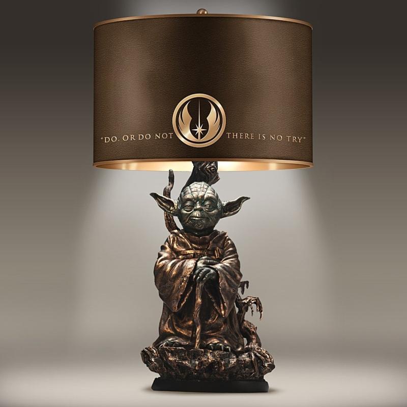 Star Wars Yoda Bronze Colored Resin Lamp 7 Gadgets