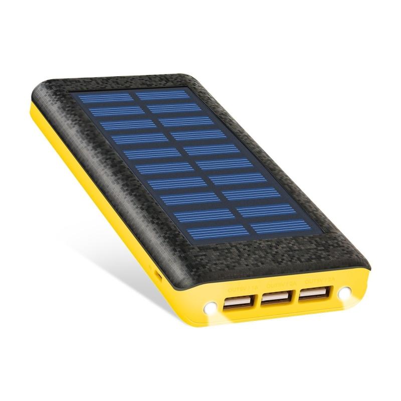 solar charger ruipu 24000mah portable solar power bank. Black Bedroom Furniture Sets. Home Design Ideas