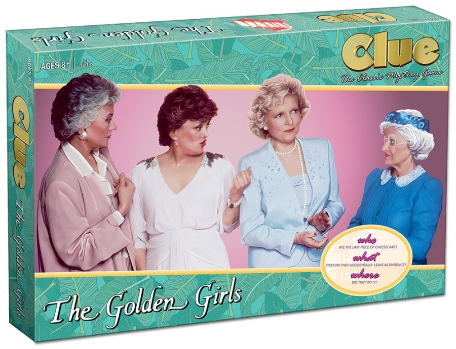 usaopoly the golden girls clue board game. Black Bedroom Furniture Sets. Home Design Ideas
