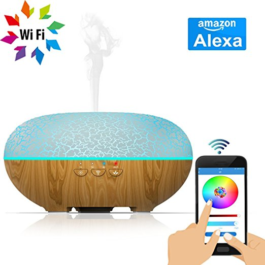 Ultrasonic Aroma Essential Oil Diffuser Okela Smart Wi Fi