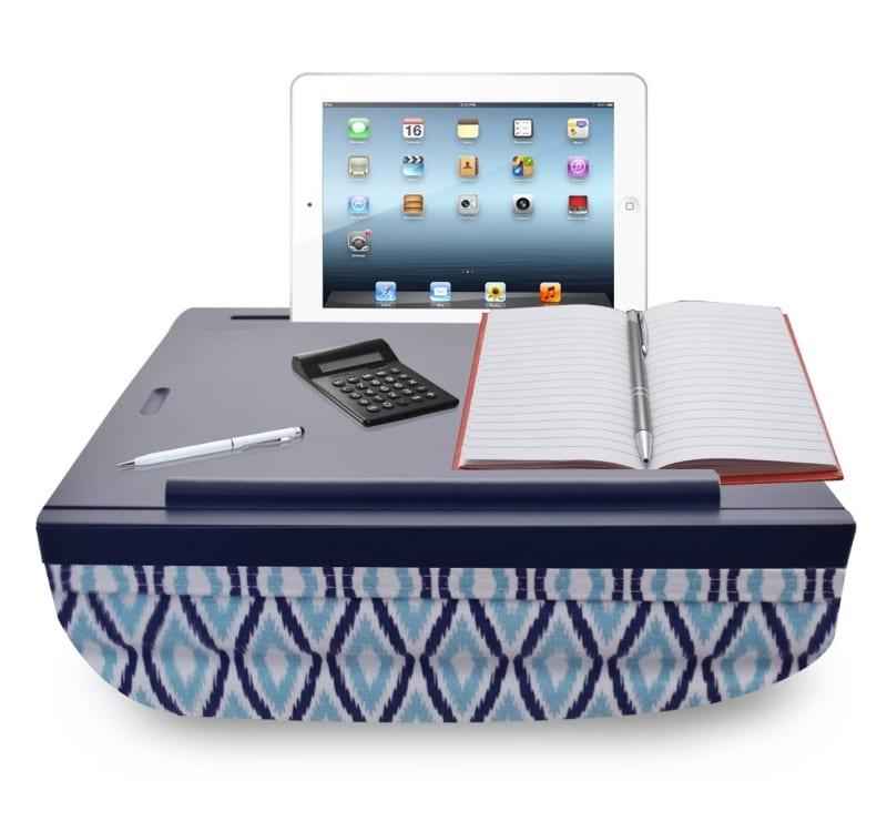 Icozy Portable Cushion Lap Desk With Storage