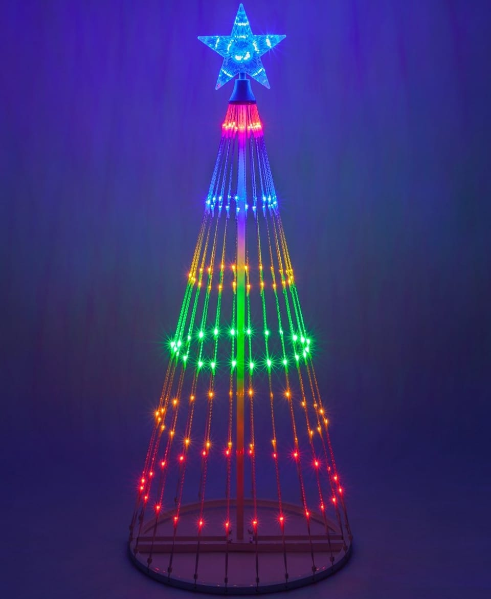 Led Light Show Cone Christmas Tree 7 Gadgets